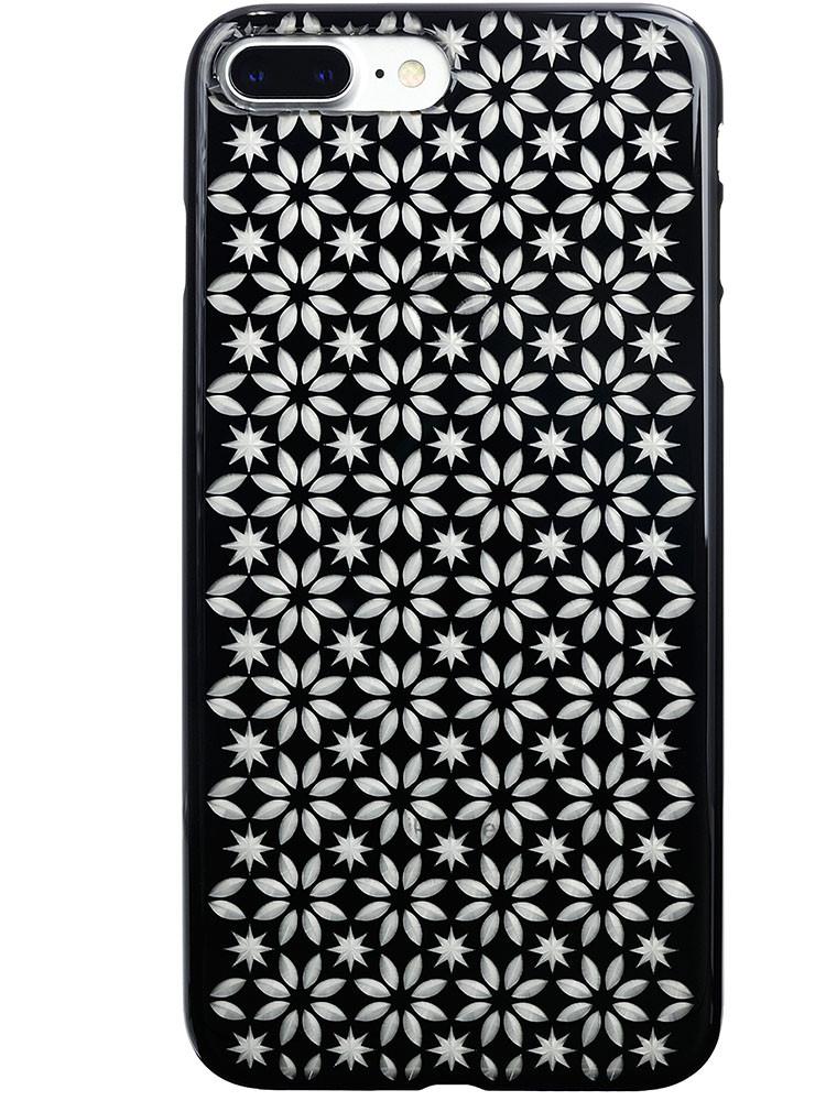 Air Jacket KIRIKO for iPhone 7 Plus Pinwheel & Star Jet Black
