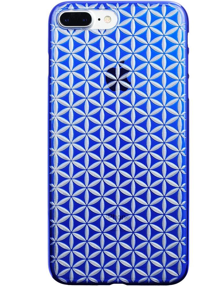 Air Jacket KIRIKO for iPhone 7 Plus Hemp Blue