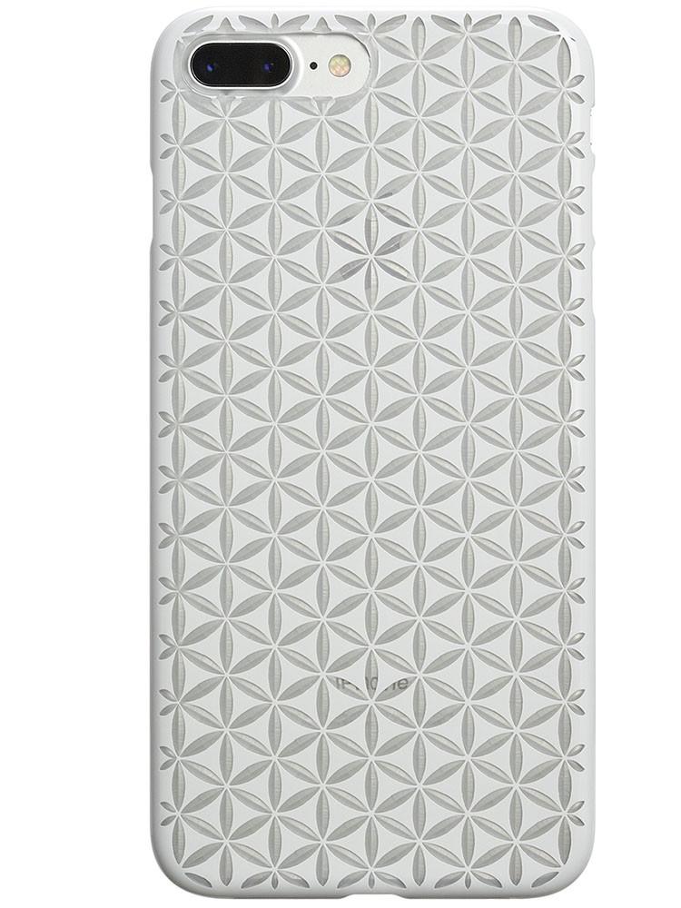 Air Jacket KIRIKO for iPhone 7 Plus Hemp Pure White