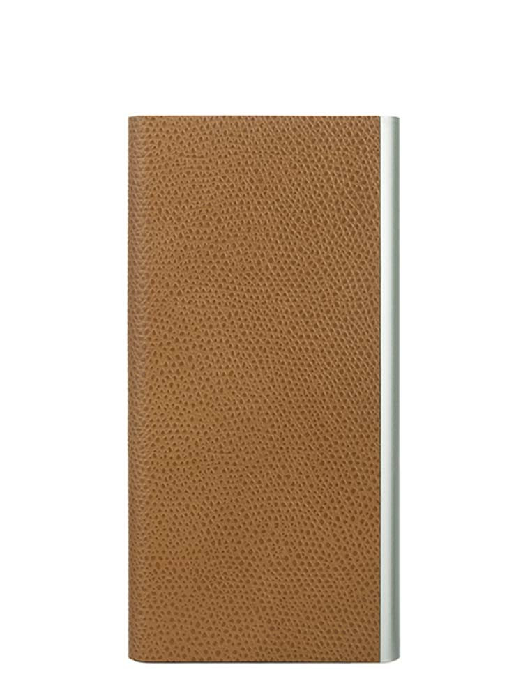 Flip Jacket for iPhone 7 Embossed Leather Front Camel