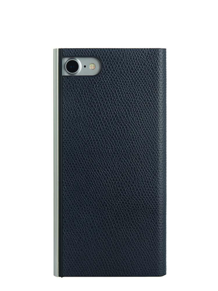 Flip Jacket for iPhone 7 Embossed Leather Back Black