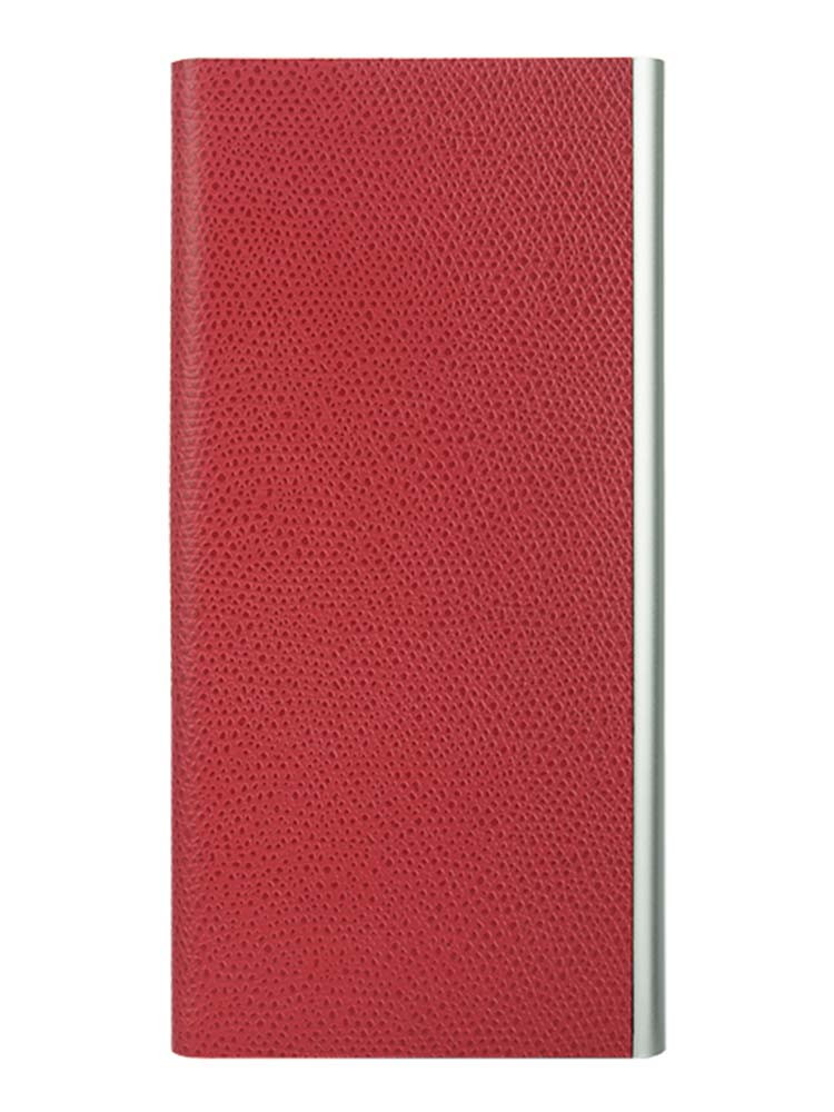 Flip Jacket for iPhone 7 Plus  Embossed Leather Front Red