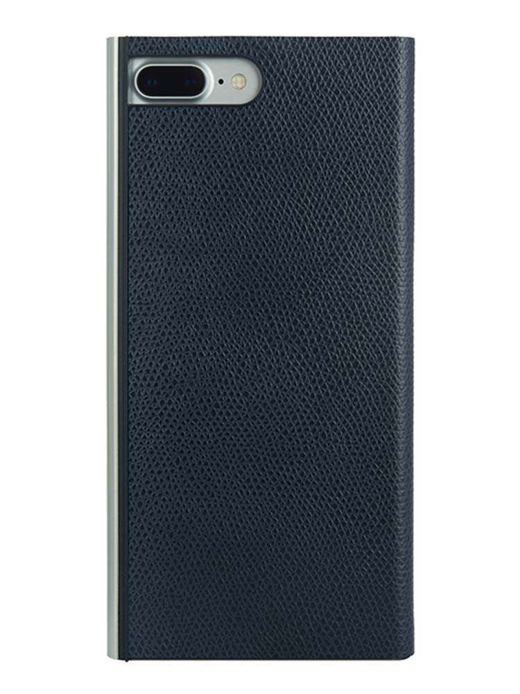 Flip Jacket for iPhone 7 Plus Embossed Leather Back Black