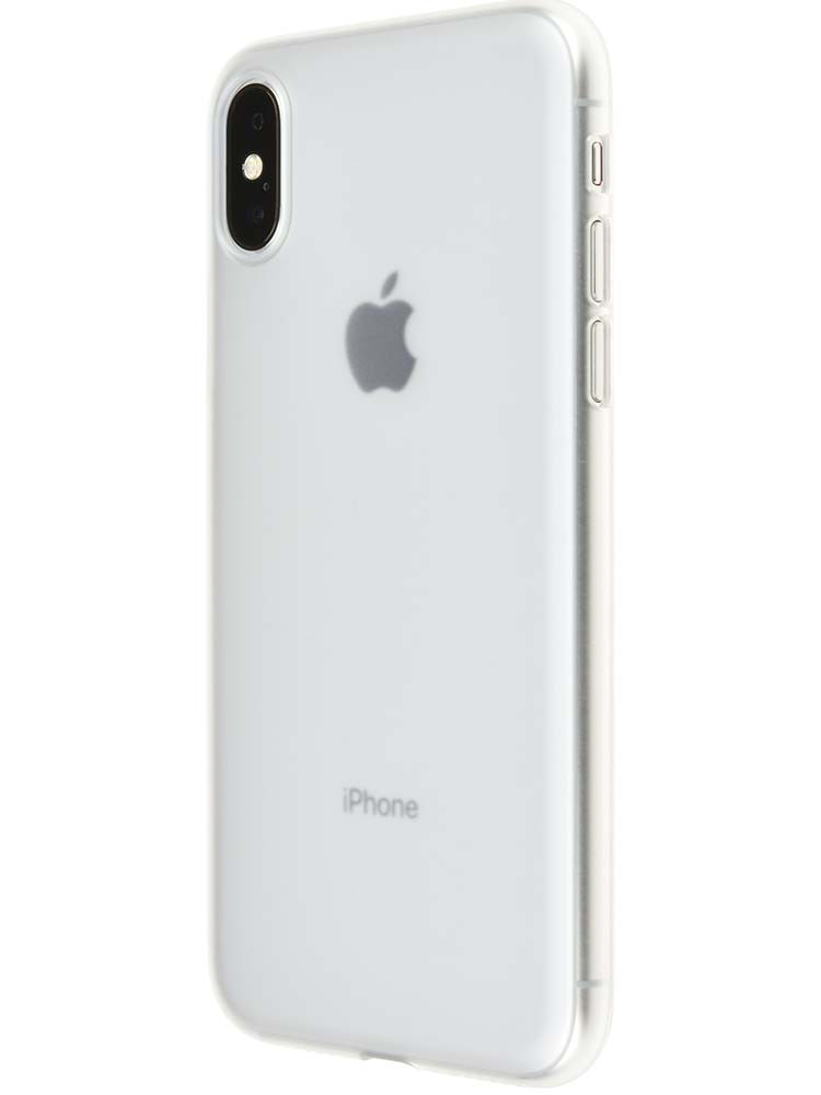 Clear Matte Air Jacket with iPhone X