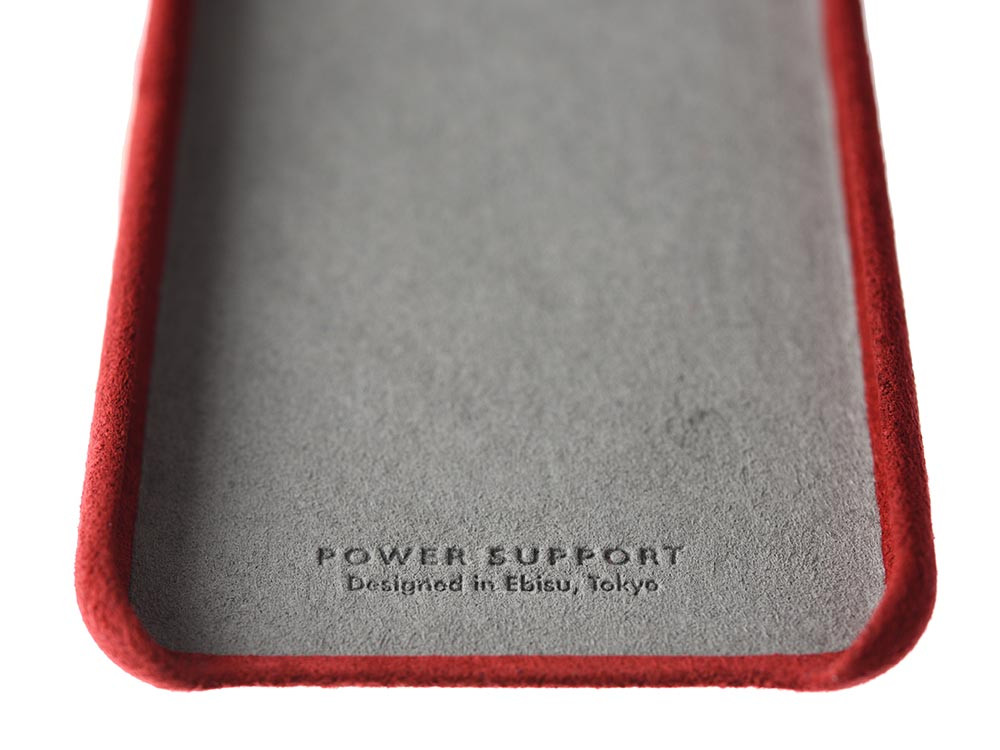 Ultrasuede Air Jacket for iPhone X Red inside