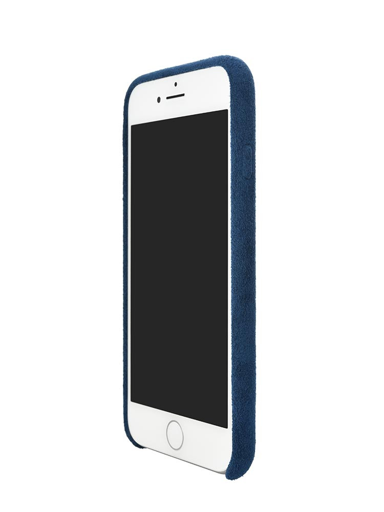 Ultrasuede Air Jacket for iPhone 8 Front Side Blue