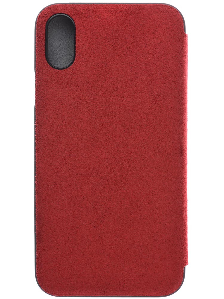 Ultrasuede Flip Case for iPhone X Back