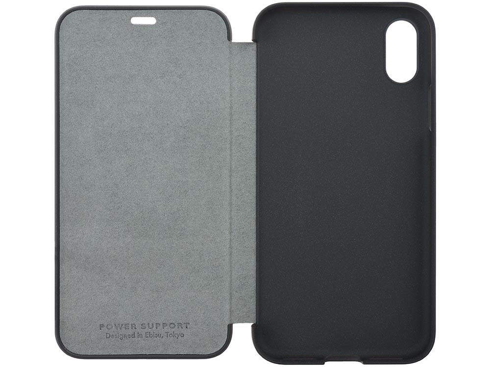 Ultrasuede Flip Case for iPhone X open