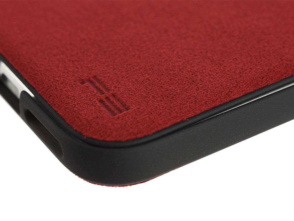 Ultrasuede Flip Case for iPhone X Detail Red