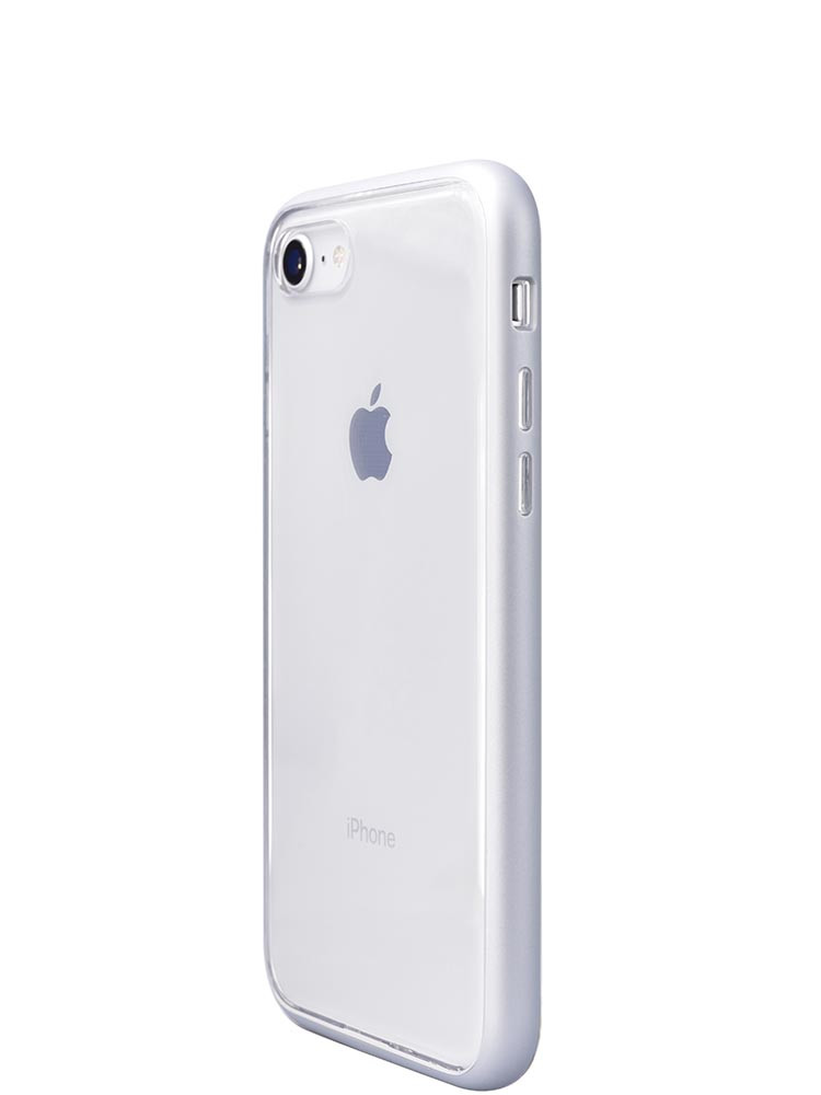 Shock Proof Air jacket for iPhone 8 Side Rubber Silver