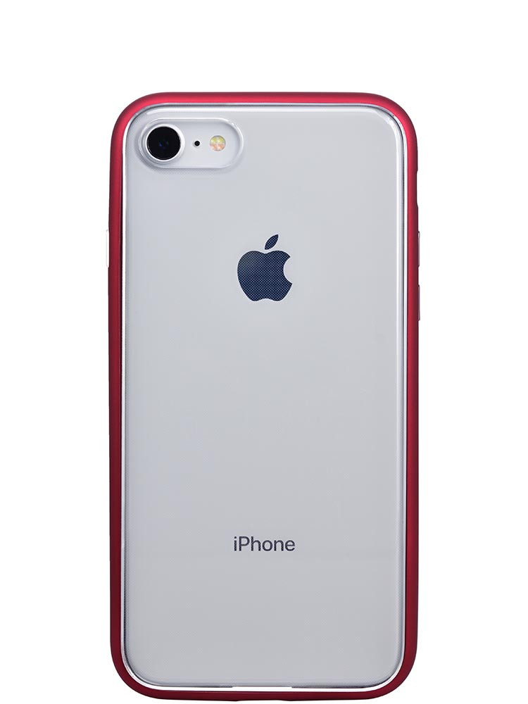Shock Proof Air jacket for iPhone 8 Back Rubber Red