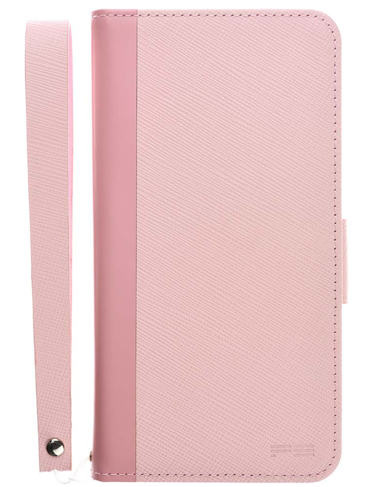 Leather Flip Case for iPhone X Rose Front