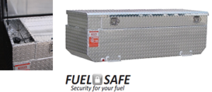 ATI FUEL TANKS AUX30FCBRG FUEL SAFE 30 GALLON RECTANGLE SHAPED AUXILIARY TANK/TOOLBOX COMBO - GASOLINE - NO INSTALL KIT