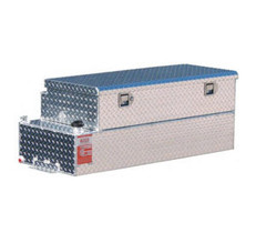 ATI FUEL TANKS AUX42CBRG 42 GALLON RECTANGLE SHAPED AUXILIARY TANK/TOOLBOX COMBO - GASOLINE - NO INSTALL KIT