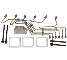 SCHEID DIESEL 154093ISBPPSET FUEL LINE KIT WITH STEEL FUEL LINES FOR ISB WITH P PUMP