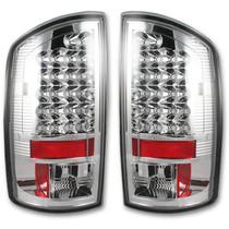 RECON 264179CL CHROME LED TAIL LIGHTS 2007-2008 DODGE RAM 1500 | 2007-2009 DODGE RAM 2500/3500