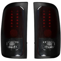 RECON 264170RBK DARK RED SMOKED LED TAIL LIGHTS 1994-2001 DODGE RAM 1500 | 1994-2002 DODGE RAM 2500/3500