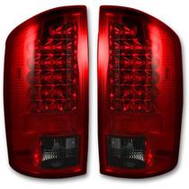 RECON 264171RBK DARK RED SMOKED LED TAIL LIGHTS 2002-2006 DODGE RAM 1500 | 2003-2006 DODGE RAM 2500/3500