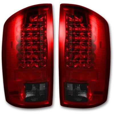RECON 264179RBK DARK RED SMOKED LED TAIL LIGHTS 2007-2008 DODGE RAM 1500   2007-2009 DODGE RAM 2500/3500