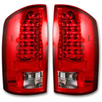 RECON 264171RD RED LED TAIL LIGHTS 2002-2006 DODGE RAM 1500 | 2003-2006 DODGE RAM 2500/3500
