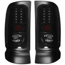 RECON 264170BK SMOKED LED TAIL LIGHTS 1994-2001 DODGE RAM 1500 | 1994-2002 DODGE RAM 2500/3500