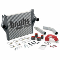 BANKS 25981 INTERCOOLER UPGRADE INCLUDES MONSTER-RAM® INTAKE ELBOW AND BOOST TUBES (RED POWDER-COATED) FOR 2006-2007 DODGE RAM 2500/3500 5.9L CUMMINS