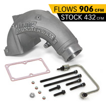 BANKS 42788 Monster-Ram Intake Elbow Kit W/Fuel Line 3.5 Inch Natural 07.5-18 Dodge/Ram 2500/3500 6.7L
