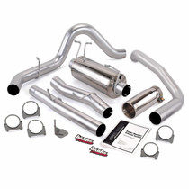 BANKS 48787 MONSTER EXHAUST SYSTEM SINGLE EXIT CHROME ROUND TIP 03-07 FORD 6.0L CCLB