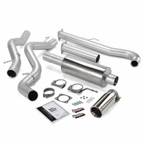 BANKS 48629 MONSTER EXHAUST SYSTEM SINGLE EXIT CHROME TIP 01-04 CHEVY 6.6L EC/CCSB
