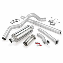 BANKS 46299 MONSTER EXHAUST SYSTEM SINGLE EXIT CHROME TIP 94-97 FORD 7.3L CCLB