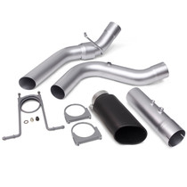 BANKS 48947-B MONSTER EXHAUST SYSTEM 4-INCH SINGLE EXIT BLACK TIP 17-18 CHEVY 6.6L L5P
