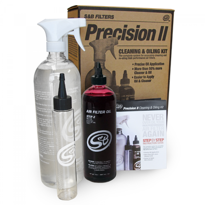 S&B FILTERS 88-0008 PRECISION II CLEANING AND OIL KIT (RED OIL)