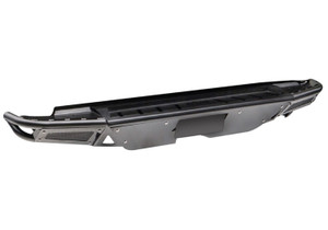 N-FAB T14RBS-H RBS Rear Bumper-License Plate Mount/Brushed Aluminum Skid Plate-1.79 in-0.095 in Wall Tubing-2014-2020 Toyota Tundra with Factory Hitch-Gloss Black