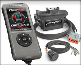 SUPERCHIPS 1545-A Flashcal for Ford + AmpD Throttle Booster Kit with Power Switch