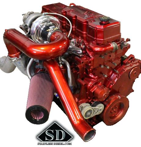 Mishimoto Red Silicone Coolant Hose Kit For 98.5-02 Dodge 5.9L Cummins Diesel