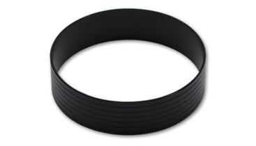 VIBRANT PERFORMANCE 12568 Aluminum Union Sleeve for 4in. Tube O.D.-Hard Anodized Black