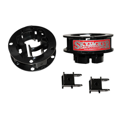 SKYJACKER R1325MSB Aluminum Spacer Leveling Kit Front 2 Inch Lift 13-19 RAM 3500 14-19 RAM 2500 Incl. Front Metal Coil Spacers Front Shock Extension Brackets Can Use OEM Tires/Wheels
