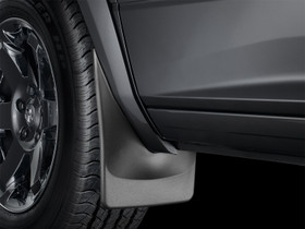 WEATHERTECH 110011 Black No Drill MudFlaps GMC  Sierra 2007 - 2013 Will NOT fit with fender flares/trim; Will fit with factory running boards; does not fit classic