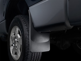 WEATHERTECH 110026 Black No Drill MudFlaps Dodge Ram 3500 2010 - 2013 With OE Flares; A plastic rock chip trim piece may need to be removed to ensure proper installation. Does not fit Ram 3500