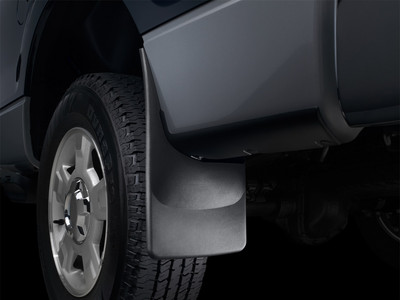 WEATHERTECH 110026 BLACK NO-DRILL DIGITALFIT FRONT MUDFLAPS 2010-2018 RAM (WITH FACTORY FENDER FLARES)