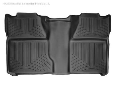 WEATHERTECH 440660 REAR FLOORLINER CHEVROLET SILVERADO CREW CAB 2007 - 2013 (BLACK)