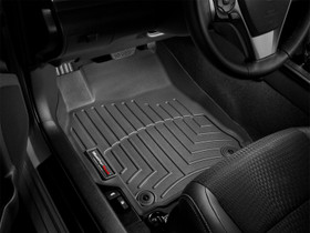WEATHERTECH 442931 DIGITALFIT FRONT FLOORLINER 2008-2010 FORD SUPER DUTY (EXTENDED/CREW CAB - W/O 4X4 FLOOR SHIFTER)(OVER-THE-HUMP) BLACK