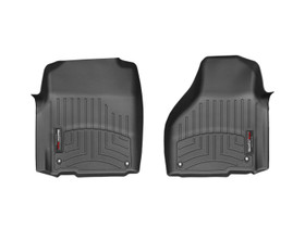 WEATHERTECH 444651 BLACK FRONT FLOORLINER DODGE RAM 2012 - 2013 FITS REGULAR AND QUAD CAB WITH TWO RETENTION HOOKS ON THE DRIVERS AND PASSENGERS SIDE