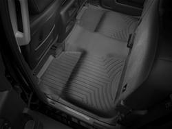 WEATHERTECH 445422  REAR FLOORLINER CHEVROLET SILVERADO 2014 + FITS CREW CAB MODELS (BLACK)