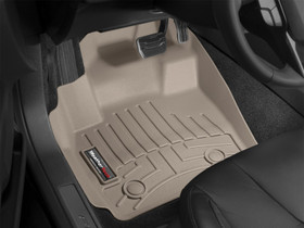 WEATHERTECH 452931 DIGITALFIT FRONT FLOORLINER 2008-2010 FORD SUPER DUTY (EXTENDED/CREW CAB - W/O 4X4 FLOOR SHIFTER)(OVER-THE-HUMP)(TAN)