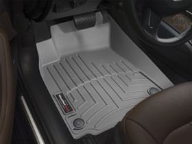 WEATHERTECH 462941 GREY FRONT FLOORLINER CHEVROLET SILVERADO 2007 - 2013 OVER-THE-HUMP: FITS EXTENDED CAB AND CREW CAB - FITS 1500 AND HD