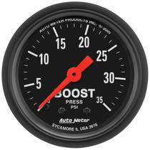 """AUTOMETER 2616 2-1/16"""" BOOST, 0-35 PSI, MECHANICAL, Z-SERIES"""