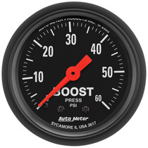 """AUTOMETER 2617 2-1/16"""" BOOST, 0-60 PSI, MECHANICAL, Z-SERIES"""