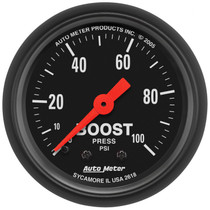 """AUTOMETER 2618 2-1/16"""" BOOST, 0-100 PSI, MECHANICAL, Z-SERIES"""