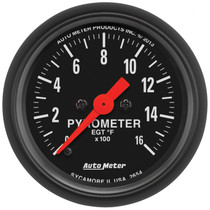 "AUTOMETER 2654 2-1/16"" PYROMETER, 0-1600 °F, STEPPER MOTOR, Z-SERIES"